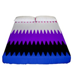 Sychnogender Techno Genderfluid Flags Wave Waves Chevron Fitted Sheet (california King Size) by Mariart