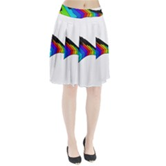 Rainbow piano  Pleated Skirt by Valentinaart