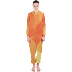Abstract Orange Yellow Red Color Hooded Jumpsuit (ladies)