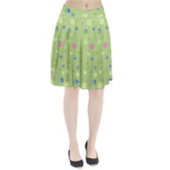 Decorative dots pattern Pleated Skirt by ValentinaDesign