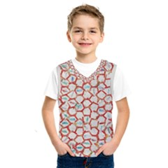 Honeycomb Pattern                 Kids  Basketball Tank Top by LalyLauraFLM