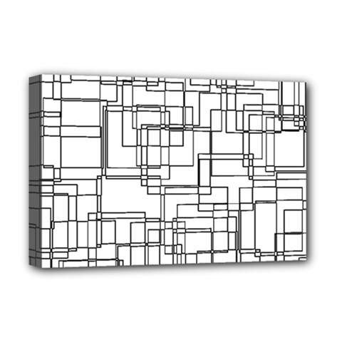 Structure Pattern Network Deluxe Canvas 18  X 12   by Nexatart