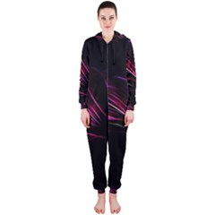 Pattern Design Abstract Background Hooded Jumpsuit (ladies)