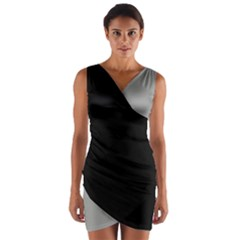 Gray Black Wrap Front Bodycon Dress by MissUniqueDesignerIs
