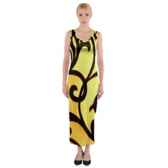 Texture Pattern Beautiful Bright Fitted Maxi Dress