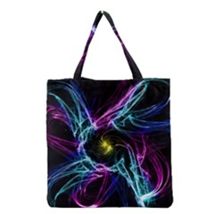 Abstract Art Color Design Lines Grocery Tote Bag