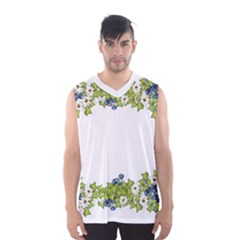Birthday Card Flowers Daisies Ivy Men s Basketball Tank Top by Nexatart