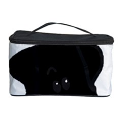 Black Lab Peeping Dog Cosmetic Storage Case by TailWags