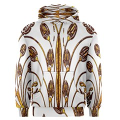 Scroll Gold Floral Design Men s Pullover Hoodie