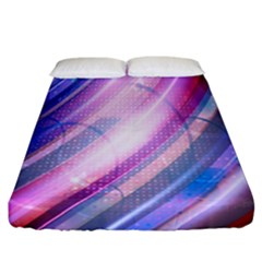 Widescreen Polka Star Space Polkadot Line Light Chevron Waves Circle Fitted Sheet (california King Size) by Mariart