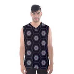 Mandala Calming Coloring Page Men s Basketball Tank Top by Nexatart