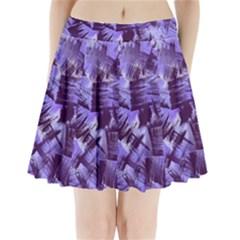 Purple Paint Strokes Pleated Mini Skirt