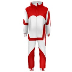 Cardiologist Hypertension Rheumatology Specialists Heart Rate Red Love Hooded Jumpsuit (Men)