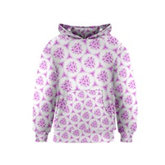 Sweet Doodle Pattern Pink Kids  Pullover Hoodie