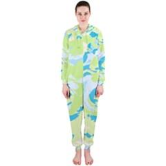 Abstract art Hooded Jumpsuit (Ladies)