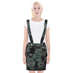 Glowing Flowers In The Dark C Braces Suspender Skirt