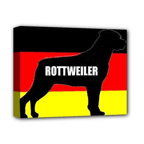 Rottweiler Name Silo On Flag Deluxe Canvas 14  x 11  by TailWags