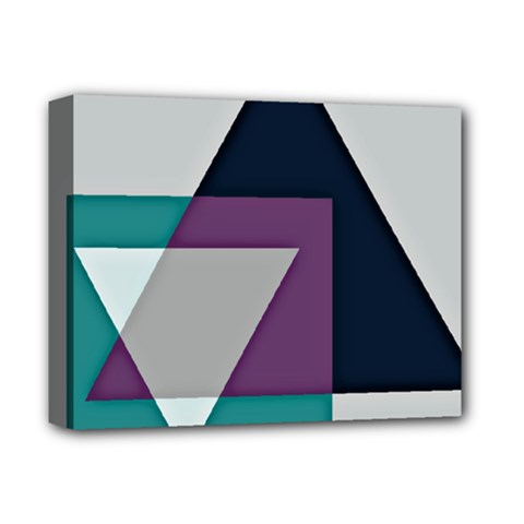 Geodesic Triangle Square Deluxe Canvas 14  x 11  by TailWags