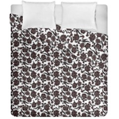 Roses pattern Duvet Cover Double Side (California King Size) by Valentinaart