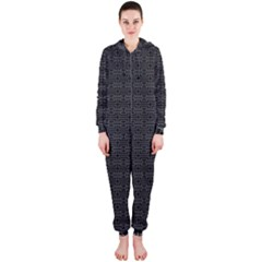 Pattern Hooded Jumpsuit (Ladies)