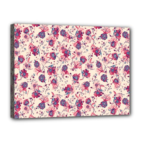 Floral Pattern Canvas 16  X 12  by ValentinaDesign