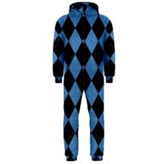 SQR2 BK-MRBL BL-PNCL Hooded Jumpsuit (Men)