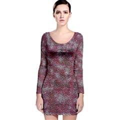 Pink texture                 Long Sleeve Velvet Bodycon Dress