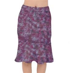 Pink texture                     Short Mermaid Skirt