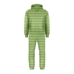 Gingham Check Plaid Fabric Pattern Hooded Jumpsuit (kids) by Nexatart