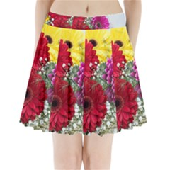 Flowers Gerbera Floral Spring Pleated Mini Skirt by Nexatart