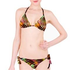 Wave Rings Circle Abstract Bikini Set