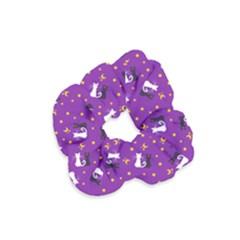Moon Kitties Purple Velvet Scrunchie