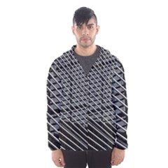 Abstract Architecture Pattern Hooded Wind Breaker (men) by Nexatart