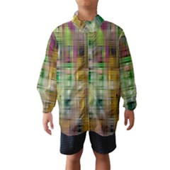 Woven Colorful Abstract Background Of A Tight Weave Pattern Wind Breaker (kids) by Nexatart