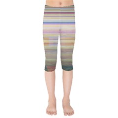 Shadow Faintly Faint Line Included Static Streaks And Blotches Color Kids  Capri Leggings  by Mariart