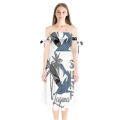 Surf   Laguna Shoulder Tie Bardot Midi Dress by Valentinaart