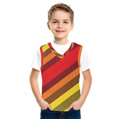 Abstract Bright Stripes Kids  Sportswear by BangZart