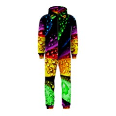 Abstract Flower Hooded Jumpsuit (kids) by BangZart