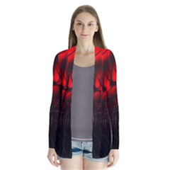 Spider Webs Drape Collar Cardigan by BangZart