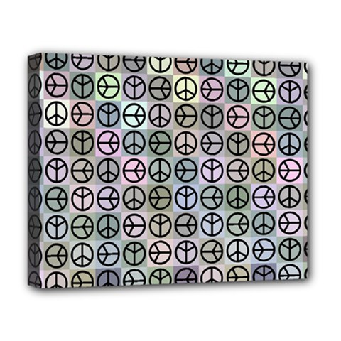 Peace Pattern Deluxe Canvas 20  X 16   by BangZart
