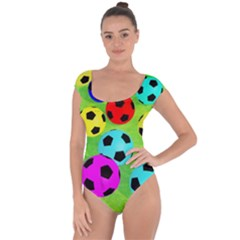 Balls Colors Short Sleeve Leotard  by BangZart