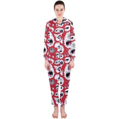 Another Monster Pattern Hooded Jumpsuit (ladies)