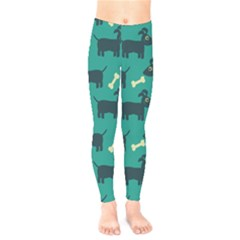 Happy Dogs Animals Pattern Kids  Legging by BangZart