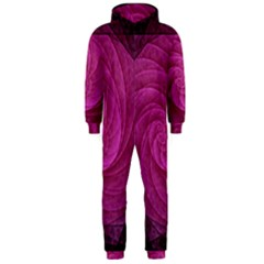 Purple Background Scrapbooking Abstract Hooded Jumpsuit (men)