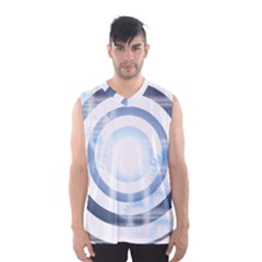 Center Centered Gears Visor Target Men s Basketball Tank Top by BangZart