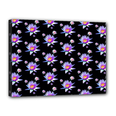 Flowers Pattern Background Lilac Canvas 16  X 12  by BangZart
