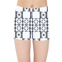 Pattern Background Texture Black Kids Sports Shorts by BangZart