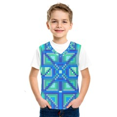 Grid Geometric Pattern Colorful Kids  Sportswear by BangZart