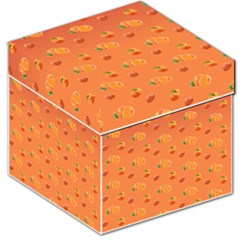 Peach Fruit Pattern Storage Stool 12