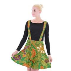 Art Batik The Traditional Fabric Suspender Skater Skirt
